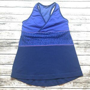 Lululemon Deep V Racerback Tank Blue & Purple - 6